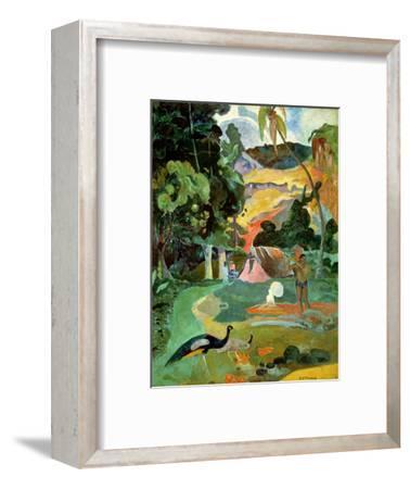 Matamoe Or, Landscape with Peacocks, 1892-Paul Gauguin-Framed Premium Giclee Print