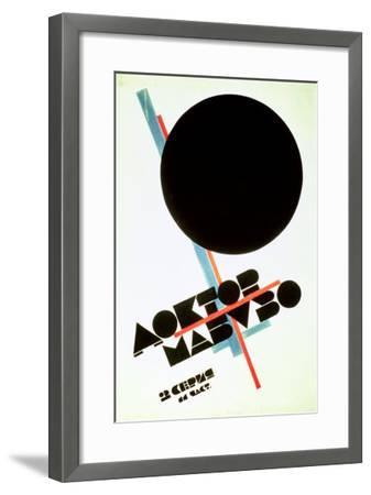 Dr. Mabuso (Kinoposter)-Kasimir Malevich-Framed Giclee Print