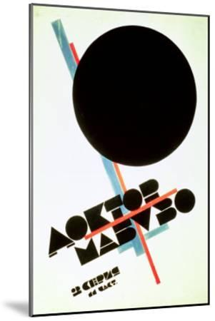 Dr. Mabuso (Kinoposter)-Kasimir Malevich-Mounted Giclee Print