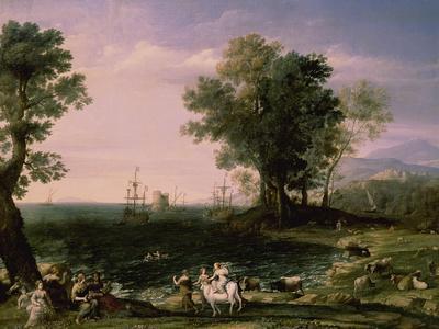 The Rape of Europa, 1655-Claude Lorraine-Framed Giclee Print