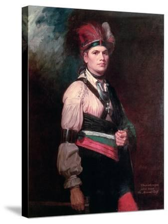 Joseph Brant, Chief of the Mohawks, 1742-1807-George Romney-Stretched Canvas Print