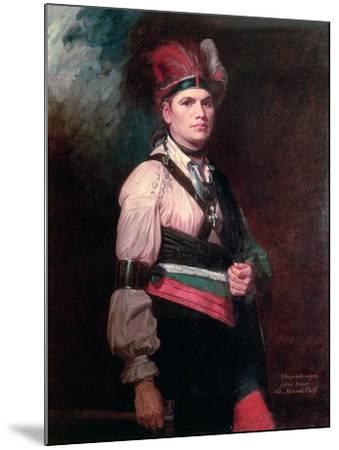 Joseph Brant, Chief of the Mohawks, 1742-1807-George Romney-Mounted Giclee Print