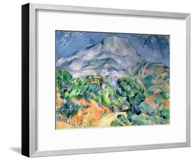 Mont Saint Victoire, 1900-Paul C?zanne-Framed Giclee Print