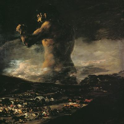 The Colossus, circa 1808-Francisco de Goya-Stretched Canvas Print