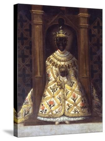 The Black Virgin in the Chadaraita Given by Louis XI (1423-83)--Stretched Canvas Print