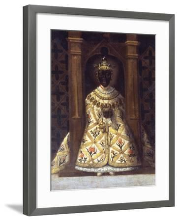 The Black Virgin in the Chadaraita Given by Louis XI (1423-83)--Framed Giclee Print