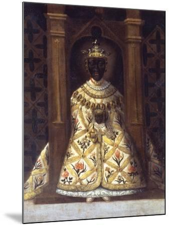 The Black Virgin in the Chadaraita Given by Louis XI (1423-83)--Mounted Giclee Print