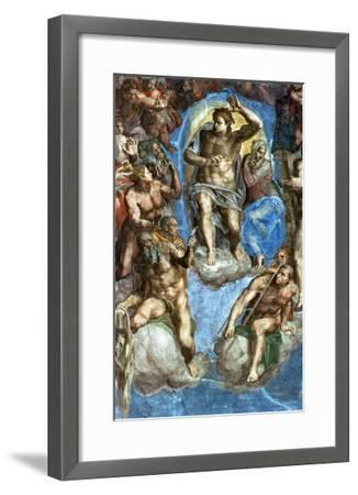 """Christ, Detail from """"The Last Judgement,"""" in the Sistine Chapel, 16th Century-Michelangelo Buonarroti-Framed Giclee Print"""