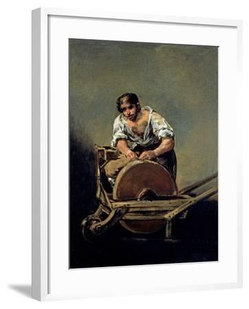 The Knife-Grinder, 1808-12-Francisco de Goya-Framed Giclee Print