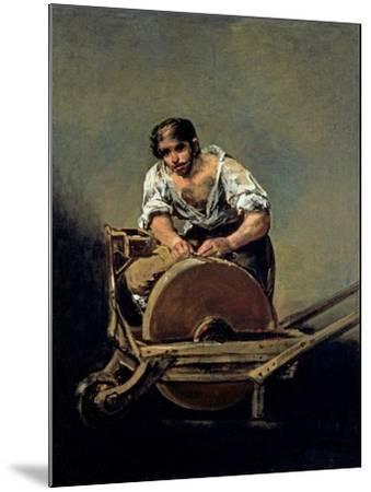 The Knife-Grinder, 1808-12-Francisco de Goya-Mounted Giclee Print