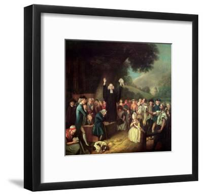 George Whitefield Preaching-John Collet-Framed Giclee Print