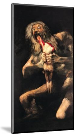 Saturn Devouring One of His Children, 1821-23-Francisco de Goya-Mounted Giclee Print