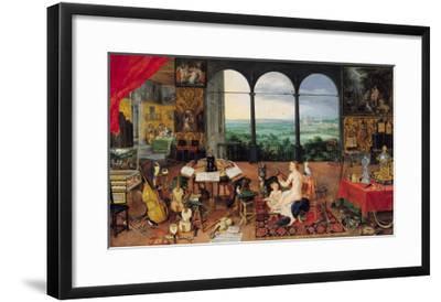Hearing, 1617-Jan Brueghel the Elder-Framed Giclee Print