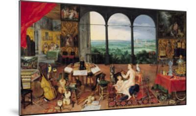 Hearing, 1617-Jan Brueghel the Elder-Mounted Giclee Print