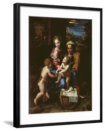 The Holy Family (La Perla) circa 1518-Raphael-Framed Giclee Print