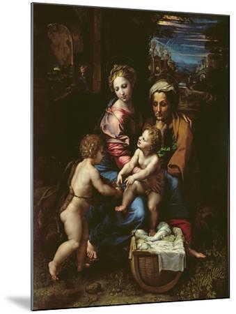 The Holy Family (La Perla) circa 1518-Raphael-Mounted Giclee Print