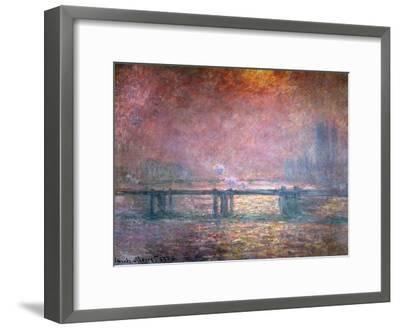 The Thames at Charing Cross, 1903-Claude Monet-Framed Giclee Print