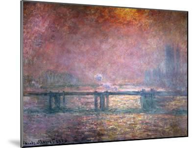 The Thames at Charing Cross, 1903-Claude Monet-Mounted Giclee Print