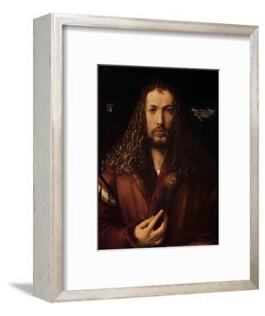 Self Portrait at the Age of Twenty-Eight, 1500-Albrecht D?rer-Framed Premium Giclee Print