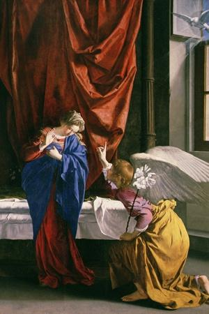 Annunciation-Orazio Gentileschi-Stretched Canvas Print