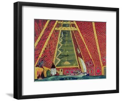 """Set Design for """"Thamar,"""" 1912-Leon Bakst-Framed Giclee Print"""