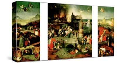 Triptych: the Temptation of St. Anthony-Hieronymus Bosch-Stretched Canvas Print