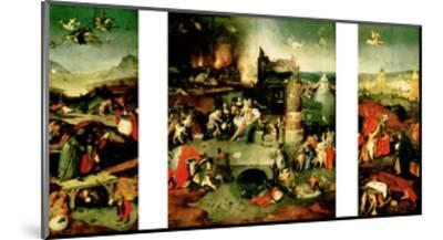 Triptych: the Temptation of St. Anthony-Hieronymus Bosch-Mounted Giclee Print