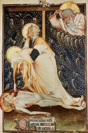 The Deposition of Christ, Made for Yolanda, Widow of Louis II of Anjou--Stretched Canvas Print