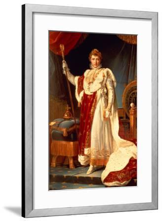 Napoleon in Coronation Robes, circa 1804-Francois Gerard-Framed Giclee Print