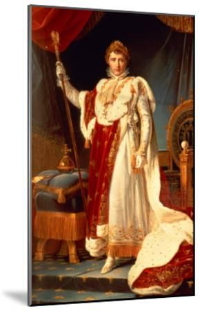 Napoleon in Coronation Robes, circa 1804-Francois Gerard-Mounted Giclee Print