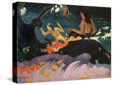 Fatata Te Miti (By the Sea) 1892-Paul Gauguin-Stretched Canvas Print