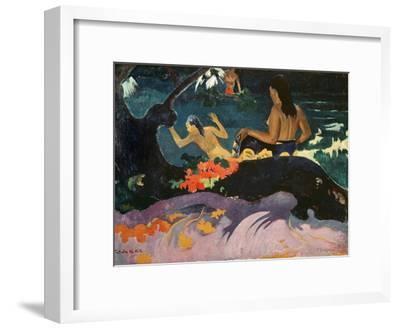 Fatata Te Miti (By the Sea) 1892-Paul Gauguin-Framed Giclee Print