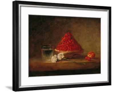 Basket with Wild Strawberries, circa 1761-Jean-Baptiste Simeon Chardin-Framed Giclee Print