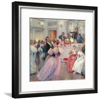 Strauss and Lanner, the Ball, 1906-Charles Wilda-Framed Giclee Print