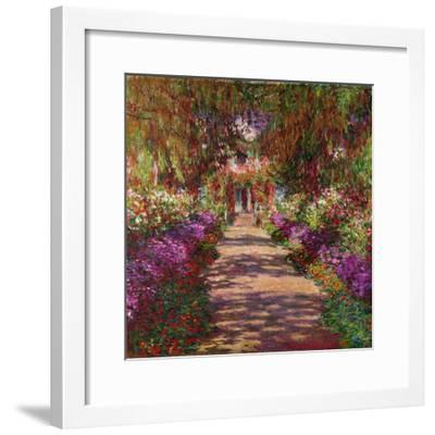 A Pathway in Monet's Garden, Giverny, 1902-Claude Monet-Framed Giclee Print