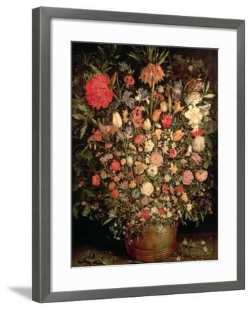 Large Bouquet of Flowers in a Wooden Tub, 1606-07-Jan Brueghel the Elder-Framed Giclee Print