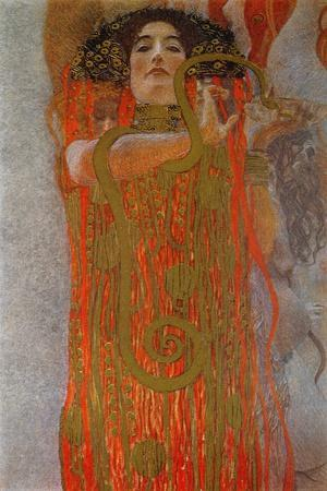 Hygieia, 1900-7-Gustav Klimt-Stretched Canvas Print