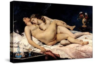 Le Sommeil, 1866-Gustave Courbet-Stretched Canvas Print