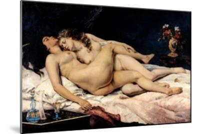 Le Sommeil, 1866-Gustave Courbet-Mounted Giclee Print