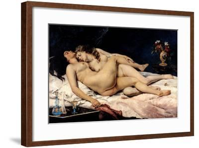 Le Sommeil, 1866-Gustave Courbet-Framed Giclee Print