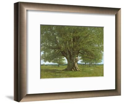 The Oak of Flagey, Called Vercingetorix-Gustave Courbet-Framed Premium Giclee Print