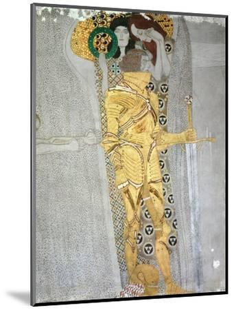 The Knight Detail of the Beethoven Frieze, Said to be a Portrait of Gustav Mahler (1860-1911), 1902-Gustav Klimt-Mounted Premium Giclee Print