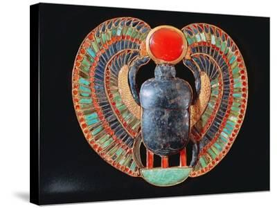 Scarab Pectoral, from the Tomb of Tutankhamun, in the Valley of the Kings at Thebes, c. 1361-52 BC--Stretched Canvas Print