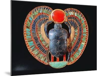 Scarab Pectoral, from the Tomb of Tutankhamun, in the Valley of the Kings at Thebes, c. 1361-52 BC--Mounted Giclee Print