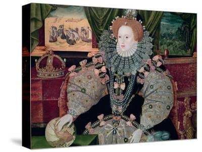 Elizabeth I, Armada Portrait, circa 1588-George Gower-Stretched Canvas Print