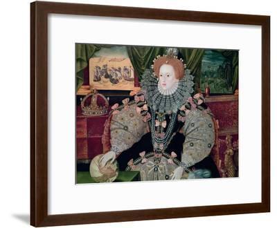Elizabeth I, Armada Portrait, circa 1588-George Gower-Framed Giclee Print