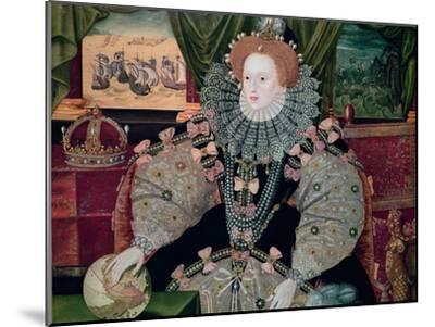 Elizabeth I, Armada Portrait, circa 1588-George Gower-Mounted Giclee Print