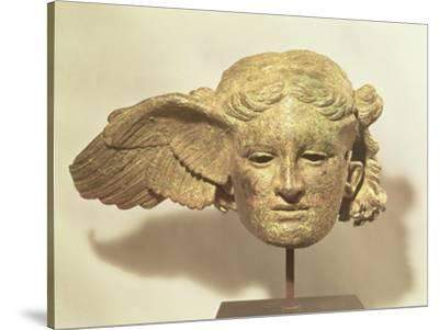 Head of Hypnos, or Sleep, an Auxiliary of Hades, Represented as a Winged Youth--Stretched Canvas Print