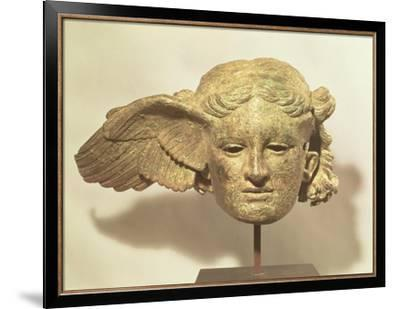 Head of Hypnos, or Sleep, an Auxiliary of Hades, Represented as a Winged Youth--Framed Premium Giclee Print