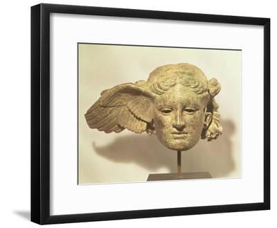 Head of Hypnos, or Sleep, an Auxiliary of Hades, Represented as a Winged Youth--Framed Giclee Print